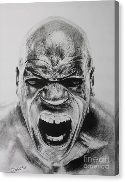 Mike Tyson Canvas Print - Iron Mike by Joshua Navarra