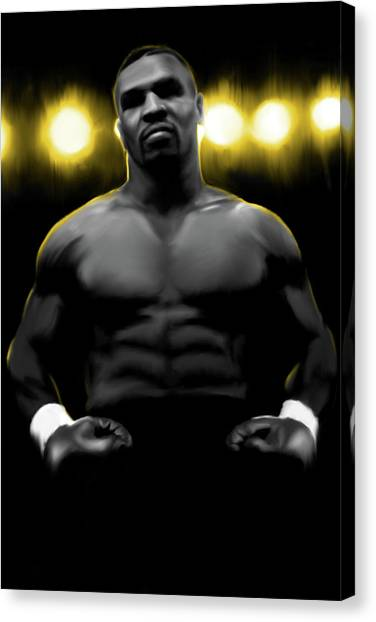 Mike Tyson Canvas Print - Iron Mike Tyson by Donald Lawrence