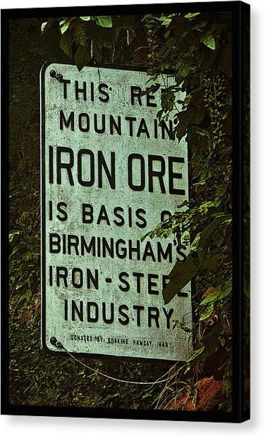 Iron Ore Seam Poster Canvas Print