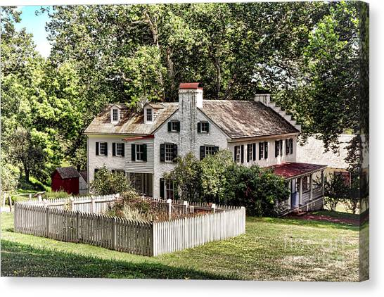Vegetable Garden Canvas Print - Ironmaster Mansion At Hopewell Furnace  by Olivier Le Queinec