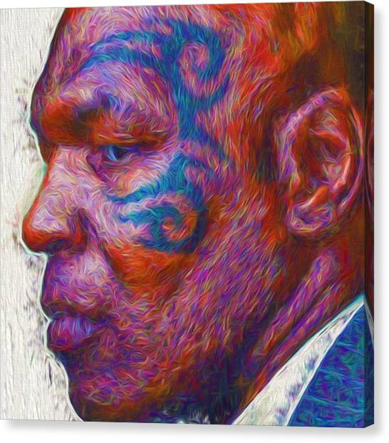 Tattoo Canvas Print - #ironmiketyson @ironminetyson by David Haskett