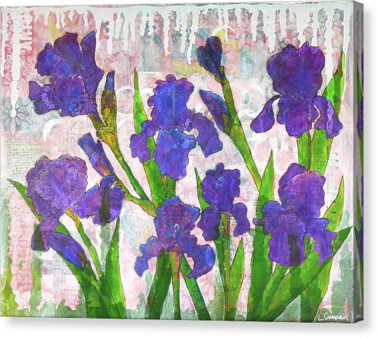 Irresistible Irises Canvas Print