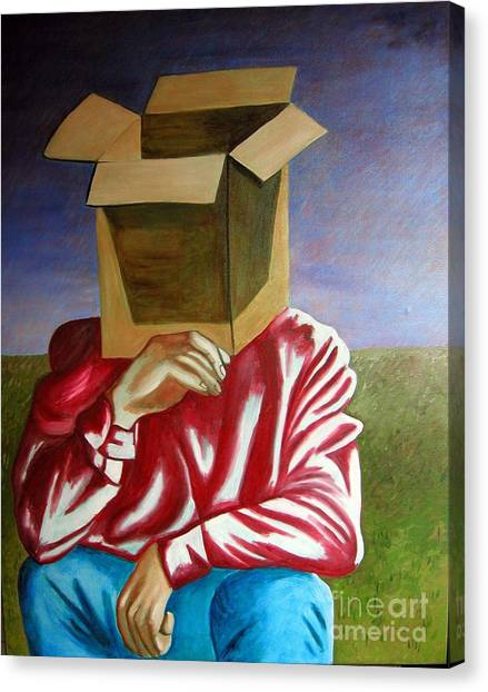 Is The Self Just An Empty Box Canvas Print by Tanni Koens