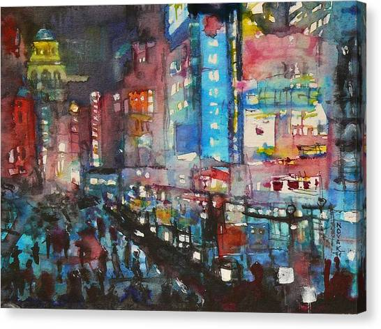 Is There Anything Going On Tonight In Downtown Canvas Print by Dreja Novak