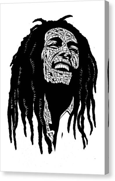 Bob Marley Artwork Canvas Print - Is This Love by Selahsess Trade