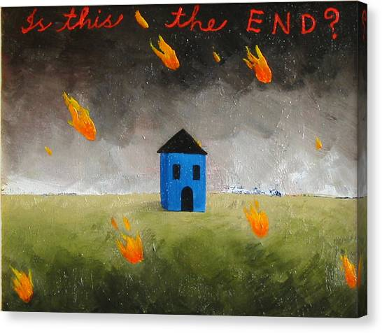 Is This The End Canvas Print by Pauline Lim