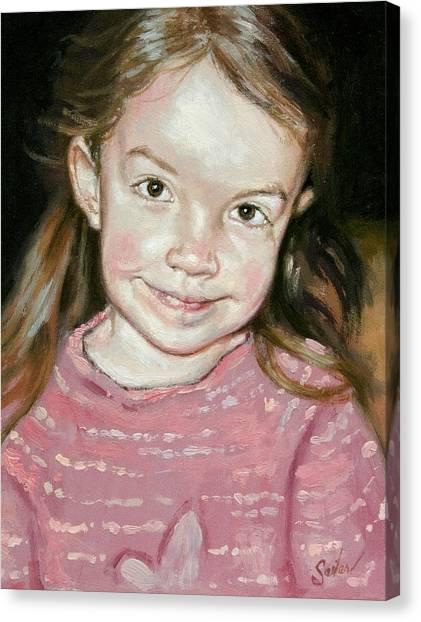 Isabeau Smiles Canvas Print by Larry Seiler