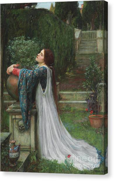 Buried Canvas Print - Isabella And The Pot Of Basil by John William Waterhouse