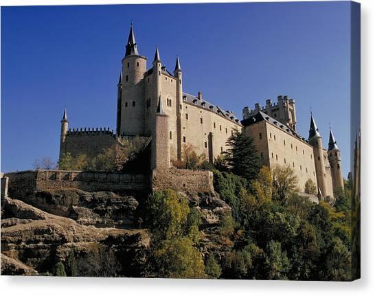 Isabella's Castle In Segovia Canvas Print