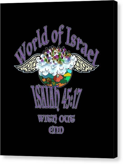 Isaiah 45 Verse 17 Canvas Print