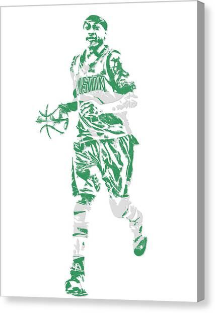 Boston Celtics Canvas Print - Isaiah Thomas Boston Celtics Pixel Art 17 by Joe Hamilton