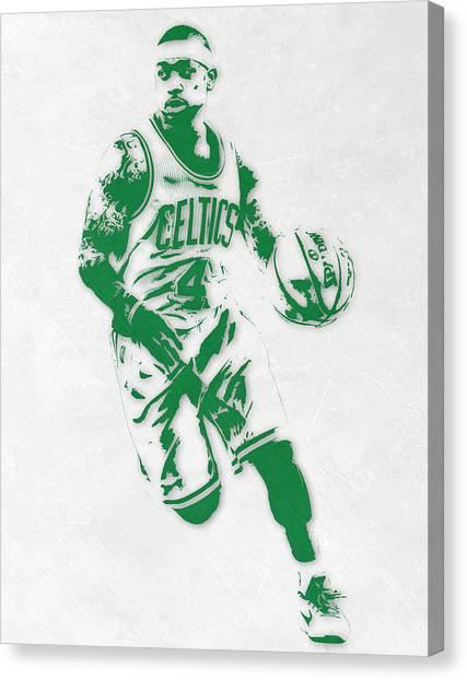 Celtic Art Canvas Print - Isaiah Thomas Boston Celtics Pixel Art 2 by Joe Hamilton