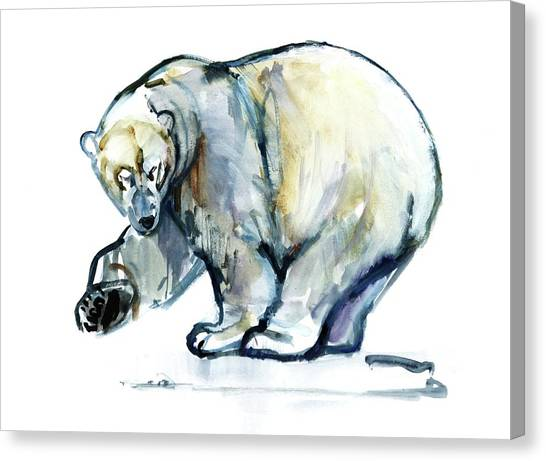 Bears Canvas Print - Isbjorn by Mark Adlington