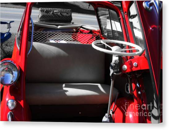 Isetta By The  Front Door  Canvas Print by Steven Digman