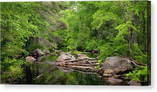Isinglass River, Barrington, Nh Canvas Print