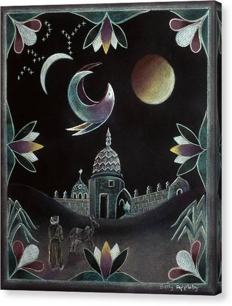 Islamic Night Canvas Print by Sally Appleby