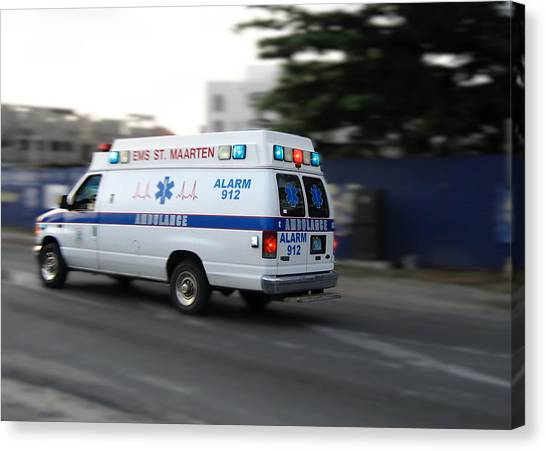 Island Ambulance Canvas Print