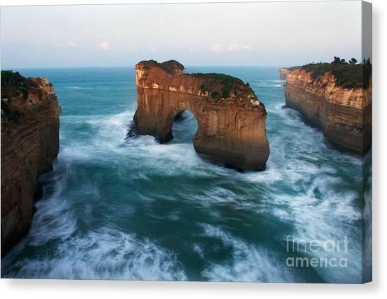 Island Arch And Whirlpools Canvas Print by Hideaki Sakurai