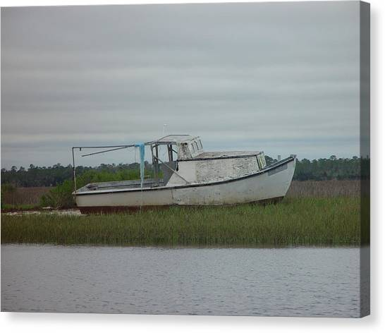 Island Boat Two Canvas Print by Debbie May