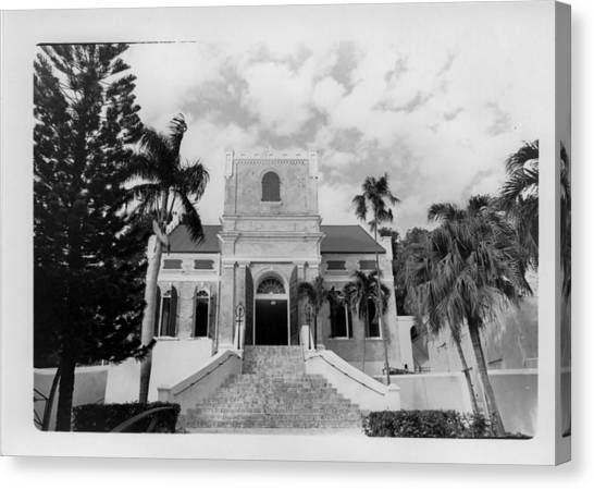 Island Church  Canvas Print