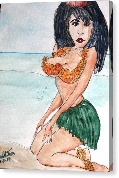 Island Girl Canvas Print by Meredith Jones