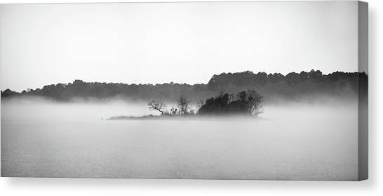 Canvas Print featuring the photograph Island In The Fog by Todd Aaron