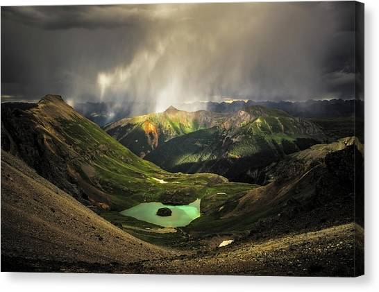 Island Lake Canvas Print