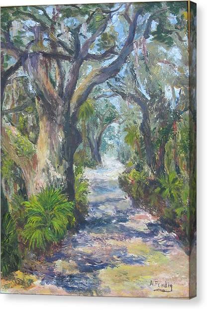 Island Lane Canvas Print by Albert Fendig