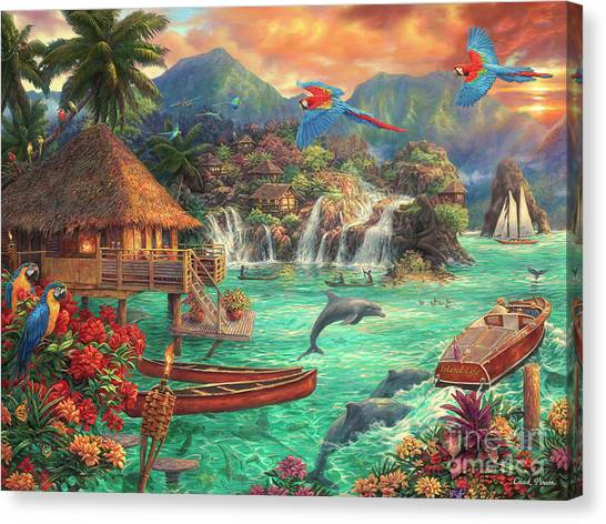 Parrots Canvas Print - Island Life by Chuck Pinson