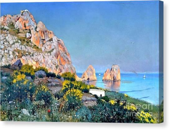 Island Of Capri - Gulf Of Naples Canvas Print