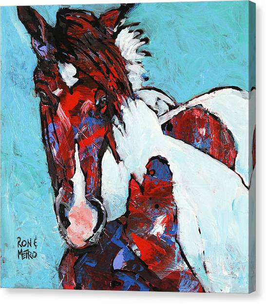 Ponies Canvas Print - Island Paint by Ron and Metro
