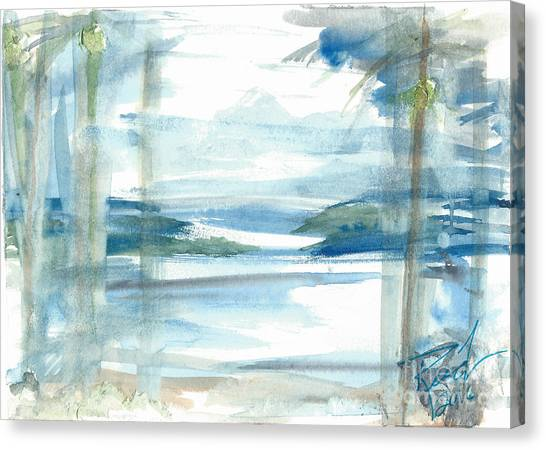 Canvas Print featuring the painting Island Paradise by Reed Novotny