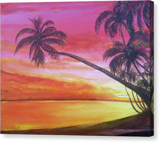 Island Sunrise Canvas Print