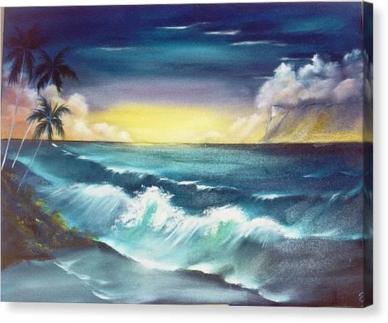 Island Sunset  Canvas Print by Dina Holland