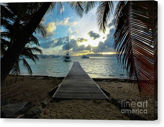 Catamarans Canvas Print - Island Sunset by Jon Neidert