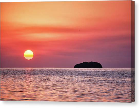 Island Sunset Canvas Print