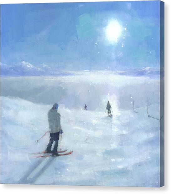 Ski Canvas Print - Islands In The Cloud by Steve Mitchell