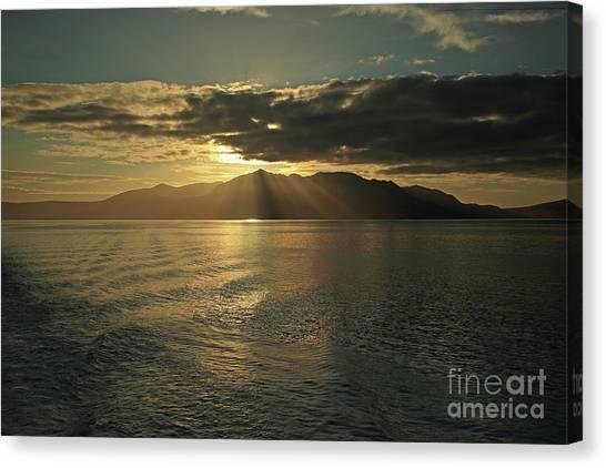 Isle Of Arran At Sunset Canvas Print