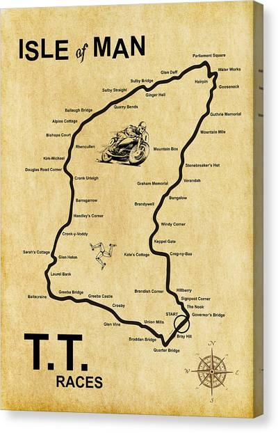 Grand Prix Racing Canvas Print - Isle Of Man Tt by Mark Rogan