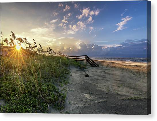 Isle Of Palms Sunstar Canvas Print