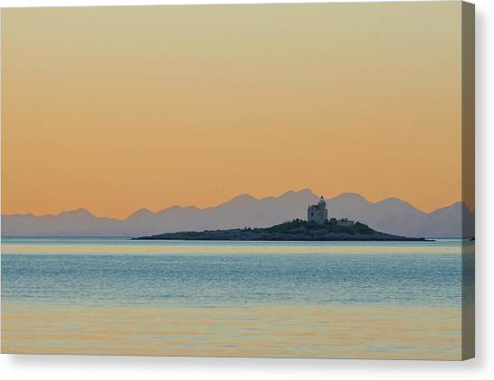 Canvas Print featuring the photograph Islet by Davor Zerjav