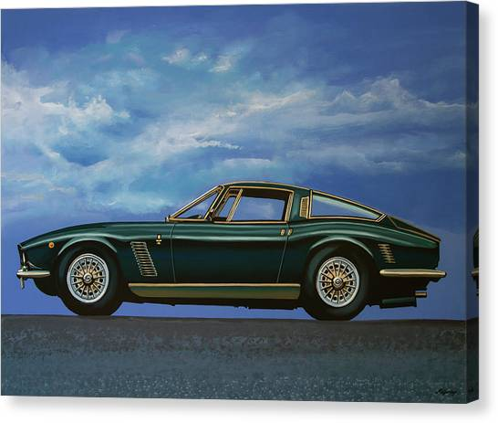 Oldtimers Canvas Print - Iso Grifo Gl 1963 Painting by Paul Meijering