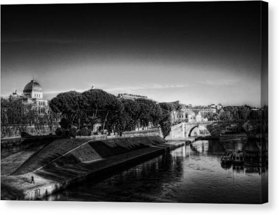 Isola Tiberina Canvas Print by Brian Thomson