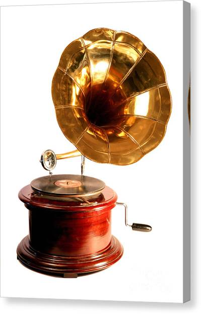 Isolated Antique Gramophone Canvas Print