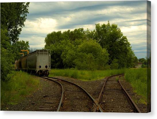 Isolation On The Tracks Canvas Print by Nicole Kramer