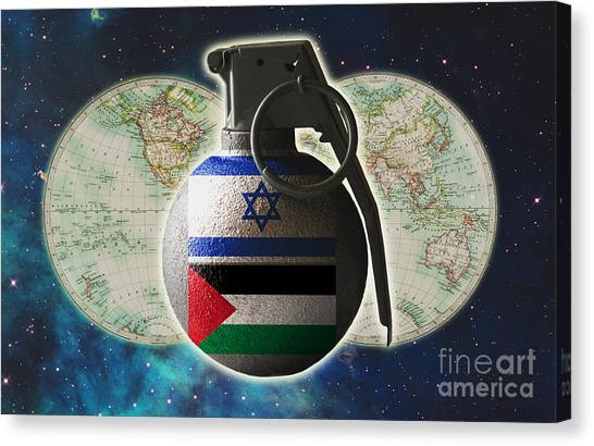 Fundamentalism Canvas Print - Israel And Palestine Conflict by George Mattei