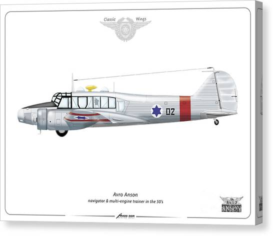 Israeli Aie Force Avro Anson #02 Canvas Print
