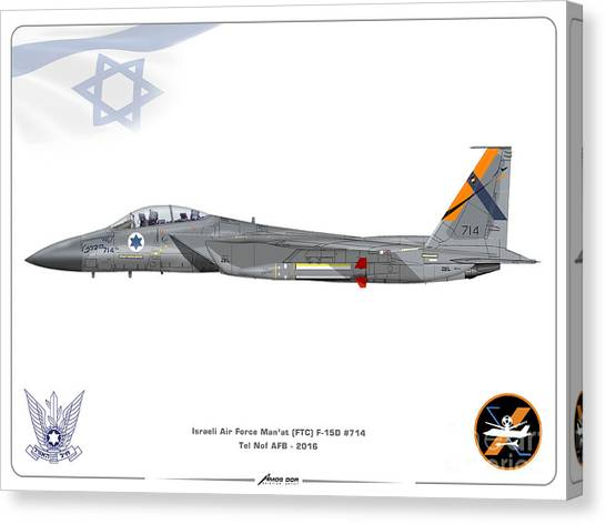 Israeli Air Force F-15d - Ftc Sqd. Canvas Print