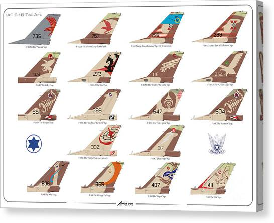 Israeli Air Force F-16's Tail Art Canvas Print