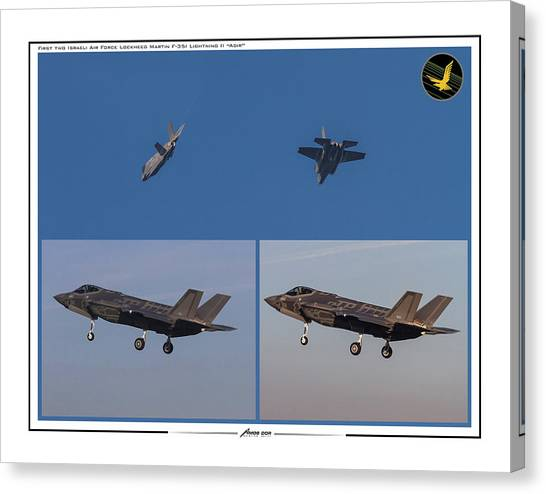 Israeli Air Force First Two F-35i Adir Canvas Print